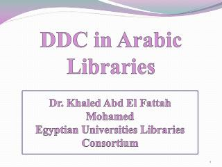 DDC in Arabic Libraries