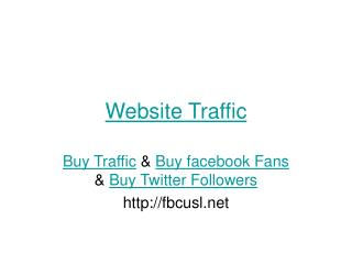 Website Traffic & Buy Traffic