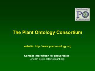 The Plant Ontology Consortium