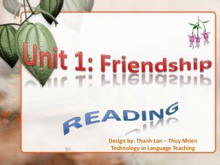 Unit 1: Friendship