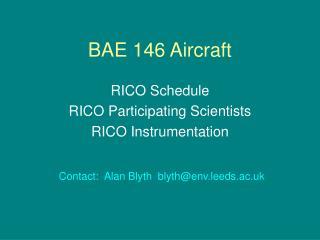 BAE 146 Aircraft
