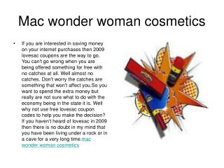 Mac wonder woman cosmetics