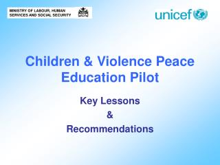 Children & Violence Peace Education Pilot