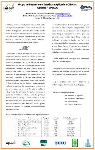 Líder:  Prof a . Dr a . Simone Daniela  Sartorio  -  sisartorio@ufscar.br