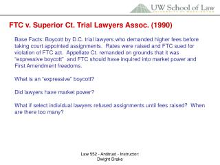 FTC v. Superior Ct. Trial Lawyers Assoc. (1990)