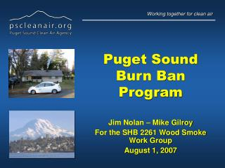 Puget Sound Burn Ban Program