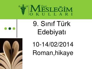 9. Sınıf Türk Edebiyatı
