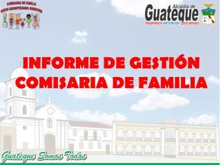 INFORME DE GESTIÓN COMISARIA DE FAMILIA