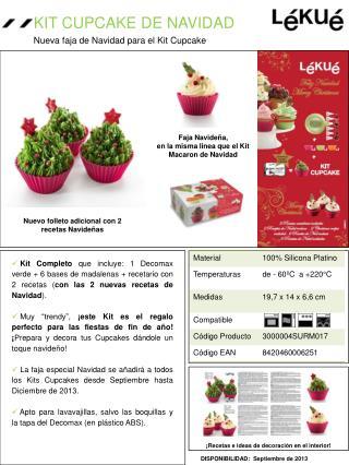 Nueva faja de Navidad para el Kit Cupcake