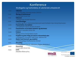 Konference Modtagelse og fastholdelse af udenlandsk arbejdskraft