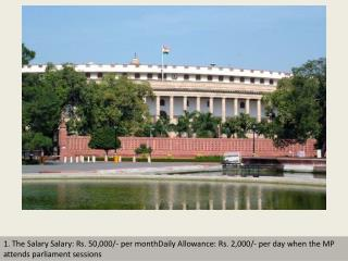 Salaries of Indian MPs