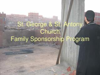 St. George & St. Antony Church Family Sponsorship Program