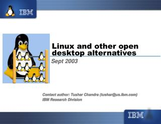 Linux and other open desktop alternatives