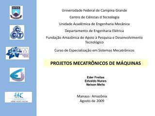 Universidade Federal de Campina Grande Centro de Ciências d Tecnologia