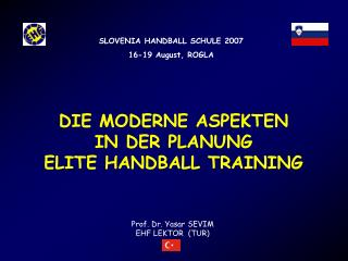 DIE MODERNE ASPEKTEN  IN DER PLANUNG ELITE HANDBALL TRAINING