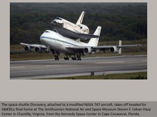 Space shuttle Discovery's final voyage