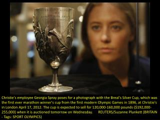 The first Olympic Marathon cup to go under the hammer