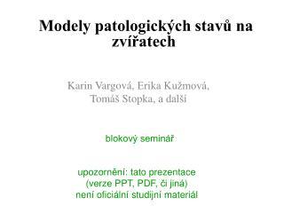 Karin  V argov á ,  Erika Kužmová , Tom áš  Stopka , a další