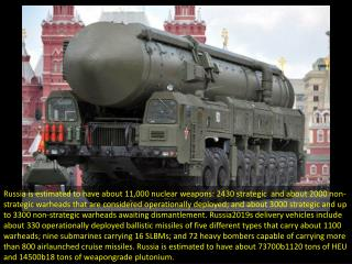 Nuclear weapons: Who has how many