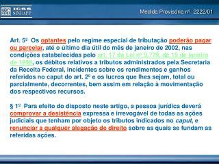 Medida Provisória nº  2222/01