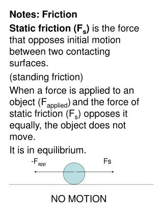 Notes: Friction