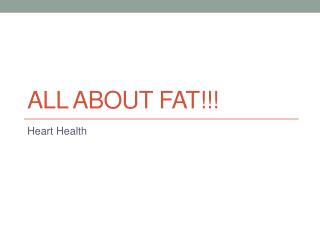 All About FAT!!!