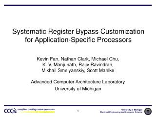 Systematic Register Bypass Customization for Application-Specific Processors