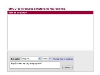 EMC-015: Introdução à História da Neurociência