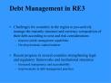 Debt Management in RE3