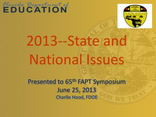 2013--State and National Issues