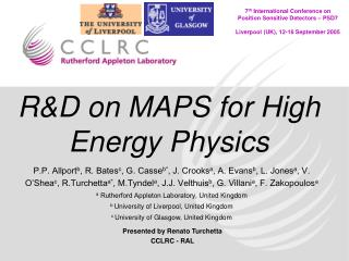 R&D on MAPS for High Energy Physics