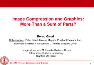 Image Compression and Graphics: More Than a Sum of Parts?