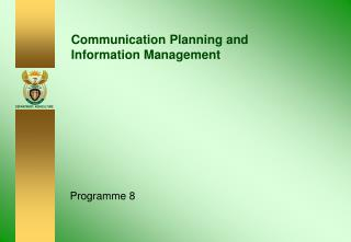 Communication Planning and Information Management