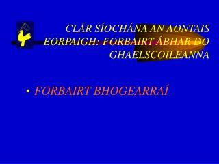CLÁR SÍOCHÁNA AN AONTAIS EORPAIGH: FORBAIRT ÁBHAR DO GHAELSCOILEANNA