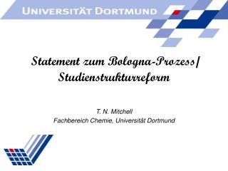 Statement zum Bologna-Prozess/ Studienstrukturreform