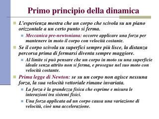 Primo principio della dinamica
