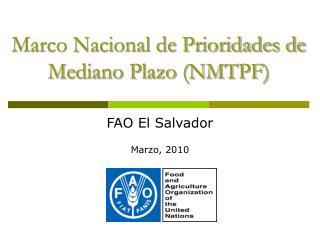 Marco Nacional de Prioridades de Mediano Plazo (NMTPF)