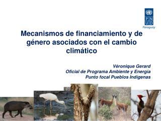 Mecanismos de financiamiento y de género asociados con el cambio climático Véronique Gerard