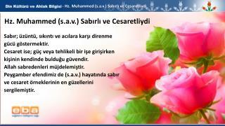 - Hz . Muhammed ( s.a.v .) Sabırlı ve Cesaretliydi