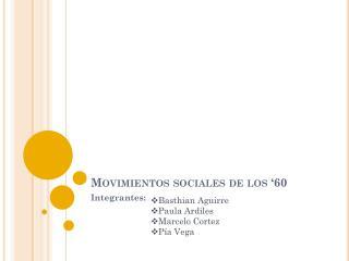 Movimientos sociales de los '60