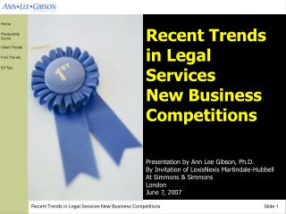 Recent Trends in Legal Services  New Business Competitions