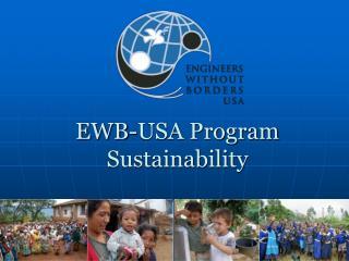 EWB-USA Program Sustainability