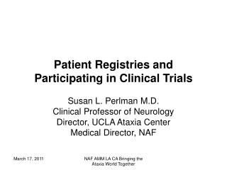 Patient Registries and Participating in Clinical Trials