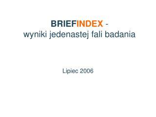 BRIEF INDEX  -  wyniki jedenastej fali badania