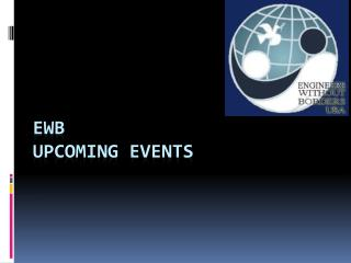 EWB Upcoming Events