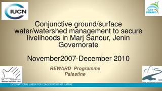 REWARD  Programme Palestine