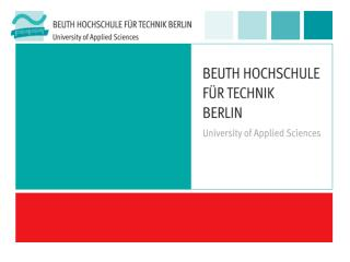 Historical Roots of Beuth Hochschule