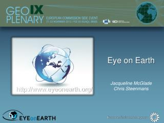 Eye on Earth  Jacqueline McGlade Chris Steenmans
