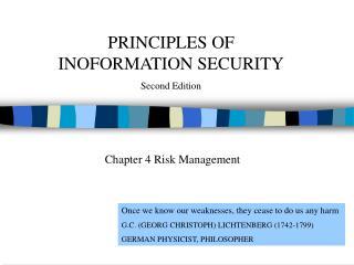 Chapter 4 Risk Management
