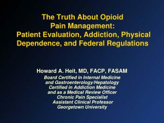 Howard A. Heit, MD, FACP, FASAM